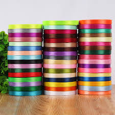 cheap ribbon 10mm 25 yard single silk satin ribbon cheap decorative gift