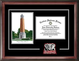 of alabama diploma frame of alabama spirit graduate diploma frame with imprinted lithograph