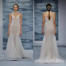 zunino wedding dresses zunino mermaid wedding dresses v neck sheer tulle