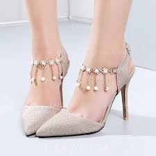 wedding shoes no heel women s stiletto heel leatherette with sequin no wedding shoes