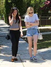Daisy Duke Shorts Clothing Elle Fanning In Daisy Dukes Out And About In Studio City