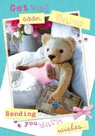 get well soon teddy get well soon cards funky pigeon