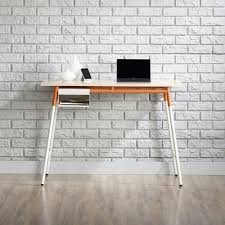 Modern White Desk by Amazon Com Sauder Square1 Writing Desk In Maple Kitchen U0026 Dining