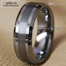 Tungsten Carbide Mens Wedding Rings by Titanium Color Two Tone Tungsten Carbide Wedding Band Men U0027s Ring