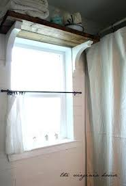 Cafe Style Curtains Curtains Bathroom Window Ideasi Love The Shelf Above The Window As