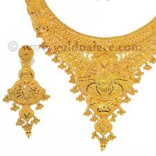 jewellery necklace earring sets images Filigree necklace earring set 22k gold gold jewelry gold palace jpg