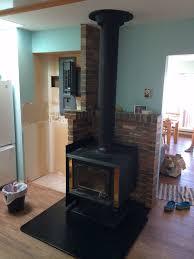 wood stove heat shield ideas u2013 victoria bc flue guru