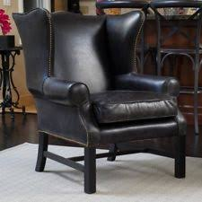 Wingback Accent Chair Leather Wingback Chair Ebay