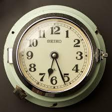 vintage ship s seiko wall clock no2