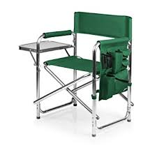 Green Patio Chairs Picnic Time Portable Folding Sports Chair