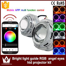 app controlled car lights phone app control car 12v rgb lens devil eyes auto led colorful