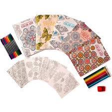 leisure arts wonders of color art for everyone coloring book kit