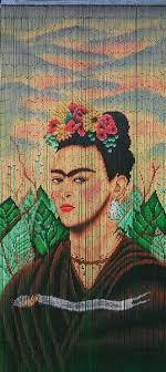 Painted Bamboo Curtains Painted Bamboo Beaded Curtain Frida2 By Beadsofparadiseny