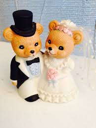 homco home interiors 1424 bear bride u0026 groom figurine u2022 9 99