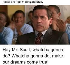Red Memes - the office us meme roses are red scott tot on bingememe