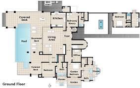 Modern Beach House Floor Plans Floor Plan Luxury Residence 1307 Sierra Alta Way Los Angeles