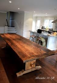 reclaimed trestle dining table trestle tables ontario rustic trestle table hd threshing