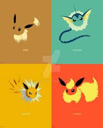 minimalist pokemon 133 to136 by boydom on deviantart