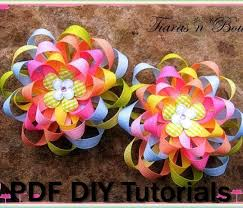 loopy bow instant ribbon hair flowers loopy ribbon