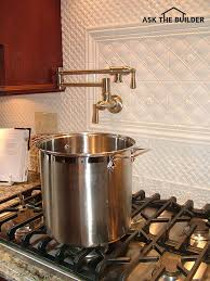 kitchen pot filler faucets pot filler faucet ask the builderask the builder
