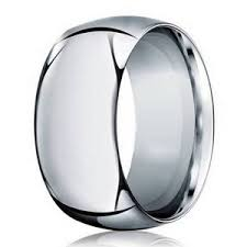 white gold mens wedding band 10mm s 14k white gold domed profile wedding band