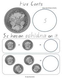 repeating patterns to continue with photocopied strips of coins
