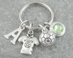 personalized birthstone keychains soccer keychain etsy