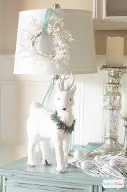 white decorations winter vignette