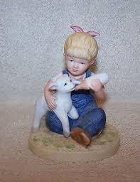 Home Interior Denim Days Figurines by Vintage 1985 Homco Denim Days Bisque Porcelain Figurine 1502