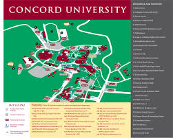 Usa Campus Map by Home Www Concord Edu