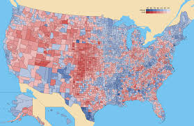 Us Election Results Map by M U0026m County Maps