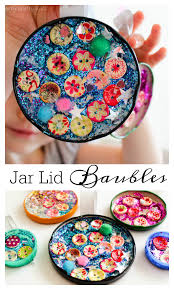 jar lid baubles easy christmas craft for kids arty craftykids