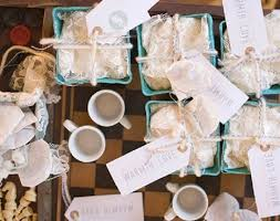 bridal brunch favors rustic bridal brunch guest feature tea bag favors