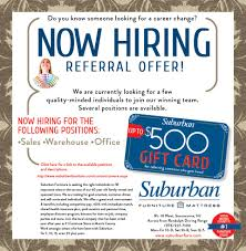 Ashley Furniture Gift Card by Career Opportunities At Suburban Furniture Swkl