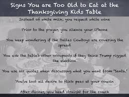 thanksgiving quotes for kids when are you too old for the thanksgiving kids table funny dad inc