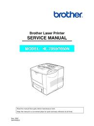 brother hl 7050 n service manual printer computing emulator