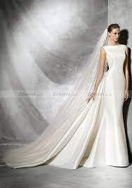 satin wedding dresses column sleeveless bateau chapel satin wedding dresses with