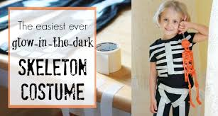 Glow In The Dark Skeleton Costume How To Make The Easiest Ever Glow In The Dark Skeleton Costume