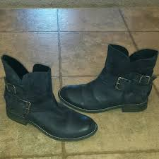womens style boots size 11 womens sz11 blk leather steve madden orly boots ankle boots