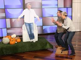 ellen degeneres gave steve carell the scariest halloween decoration