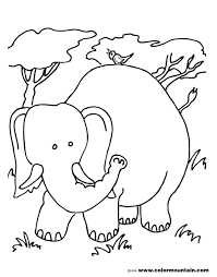 free wild elephant color page create a printout or activity