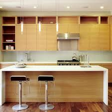 Horizontal Kitchen Cabinets Horizontal Grain Rift Cut White Oak Cabinets With White Quartz
