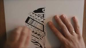 how to draw a maori samoan style calf tattoo design youtube