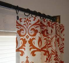 Geometric Orange Curtains Orange Geometric Curtain Fabric Panel Curtains Geometric Curtain