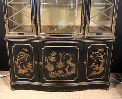 Antique Breakfront China Cabinet by Chinoiserie Breakfront China Cabinet At 1stdibs