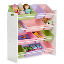 honey can do kids storage organizer with 12 bins in white srt