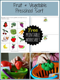 fruit and vegetable baskets preschool fruit and vegetable sort i heart crafty things