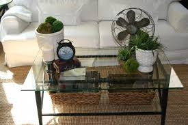Decorating Ideas For Coffee Tables Furniture Graceful Small Coffee Table With Glass Top And