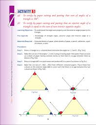 The Interior Angles Of A Triangle Always Add Up To Cbse Maths Activity Class 3 8 Part3