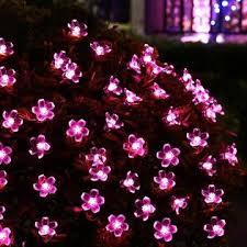 qedertek solar string lights qedertek outdoor solar string lights cherry blossom 23ft 50 led